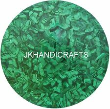 "Round 18"" Marble Coffee Table Top Handmade 100% Malachite Inlay Home Decor Gift"