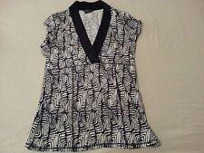 Womens BCBG MAXAZRIA Shirt Top Blouse M Medium Black