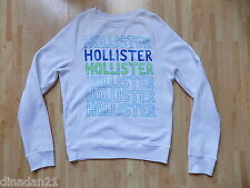 Hollister men's top sweatshirt size S white crew neck long sleeve
