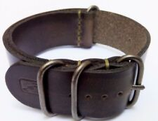 Military Watch Strap VINTAGE Genuine Italian Leather for NATO G10 18-20-22-24mm