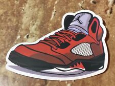 """Nike Air Jordan Retro 5 V DMP """"Raging Bulls"""" Varsity Red/Black-White Sticker"""