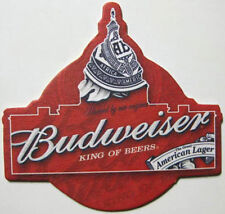 BUDWEISER BEER COASTER, Mat Outline of Capitol Dome Anheuser-Busch MISSOURI 2008