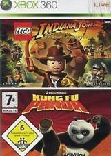 XBOX 360 LEGO INDIANA JONES + KUNG FU PANDA confezione doppia tedesco Condizione Top