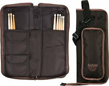 Sabian AS1BB Arena Drummer Stick Bag - Black with Brown Accents w/Shoulder Strap
