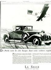 Publicité Ancienne  Voiture La Salle Général Motors  1929 ( P.17 )