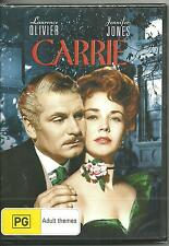 CARRIE - LAURENCE OLIVIER - JENNIFER JONES - DVD  NEW