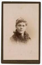 Cabinet Photo - Cleveland, Ohio Lady - Frilly Neck Scarf - Light Eyes