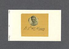 Doug McWeeny signed baseball cut on a index card 1896-1953 Rare!!