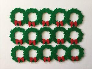 Felt Christmas wreath shapes for crafts