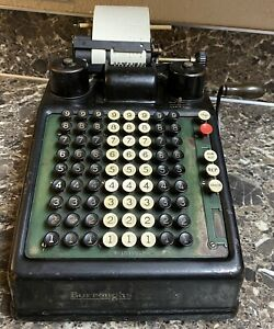 Burroughs Portable Adding Machine Vintage Tested Working Used