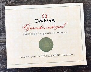 OMEGA Vintage 1960's Guarantee Certificate Booklet Speedmaster 321 Chronograph /