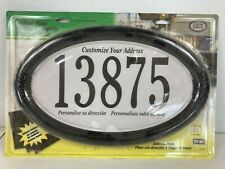 Hy-Ko Oval Wall Address Plate. Includes 4 Inch Numbers!