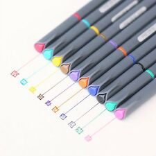 10 Color 0.38mm Watercolor Fine Line Pen Painting Draw Tools Brush Art Supplies