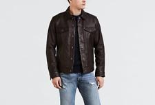 Levi's Premium Leather Trucker Jacket  Brown Siz Small