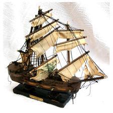 Altes großes Modellschiff aus Holz Segelschiff 3 Master restaurierungsbedürftig