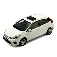 1/18 Scale Toyota Yaris L 2014 White Diecast Car Model Collection Gift