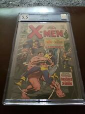 X-MEN #38 CGC 5.5 OW ORIGIN OF X-MEN KEY BLOB  VANISHER APP Marvel Comics 1967