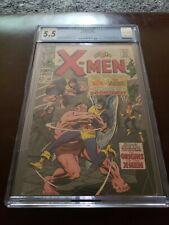 X-MEN #38 CGC 5.5 OW ORIGIN OF X-MEN KEY BLOB  VANISHER APP Marvel Comics 1967