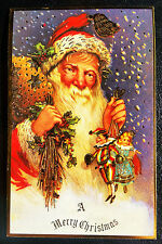 Vintage Merry Christmas Postcard Rare! Mint Condition Merrimack Publishing Co.