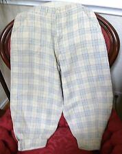 1910-20`s  Irish Linen Man`s Plaid Knickers Gatsby Golf Trousers S