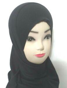 MUSLIM KIDS GIRLS  HIJAB ISLAMIC HEADSCARF PLAIN SCARF ONE PIECE CHILDREN
