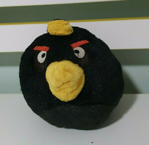 BLACK BOMB ANGRY BIRD  PLUSH TOY SOFT TOY KIDS TOY! 10CM TALL 11 WIDE!