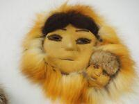 Alaskan Numamiut Eskimo Caribou and Red Fox  Double Mask by Justus Mekiana