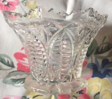 Cut Glass Pot, Very Pretty 6.5x7x10cm