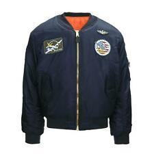Bomber Militare MA-1 con patch toppe Flight Jacket USAF Fostex Garments