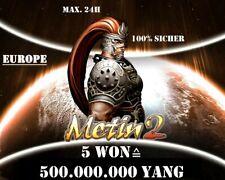 Metin2 Europe  / 5 Won (500kk Yang) / Blitzübergabe ⚡ / Paypal 👍