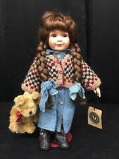 """Boyds Yesterday'S Child Porcelain Doll """"Karen"""" #4900-Retired (mm1356)"""