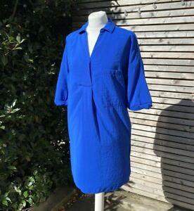 Whistles Size S UK 8 - 10 Cobalt Blue Lola / Lea Pocket Tunic Dress VGC