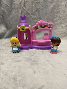 Fisher Price - Little People - Disney Alice's Mad Hatter Shop **Rare** complete