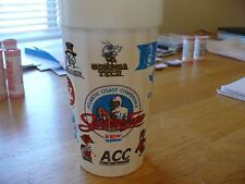 EXXON ACC SUPREME FOOTBALL TEAM PLASTIC SODA CUP-9 ACC COLLEGE TEAM ICONS ON CUP