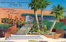 Palm Springs California Restaurant Street View Antique Postcard K38334