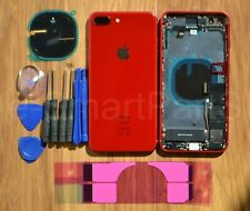 Back Housing Battery Cover Glass WITH PARTS + TAPTIC ENGINE iPhone 8 PLUS RED