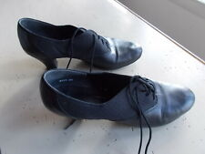 Black Leather Ladies Freed Dance Shoes Perforated 2
