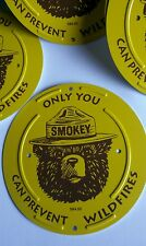 """A Round Smokey Bear Boundary Marker . """" Only You Can Prevent Wildfires . """""""