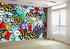 Decorative Graffiti Characters Wallpaper Mural Photo 29971665 budget paper
