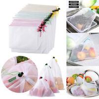 3/5/12/15pcs Reusable Produce Bags Mesh Vegetable Fruit Toys Storage Pouch