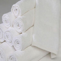 60 new white 100% cotton econ hotel wash cloths 12x12 washcloths 1# heavy duty