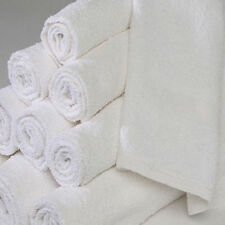 12 new white 100% cotton econ hotel wash cloths 12x12 washcloths 1# heavy duty