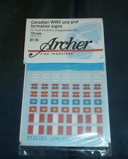 Archer 1/35 Canadian Unit and Formation Signs WWII British Italy Tunisia AR35133