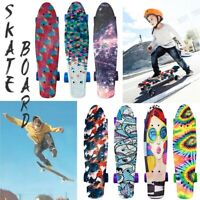 Complete 22Inch Mini Cruiser Retro Skateboards for Beginners Adult Teens Kids