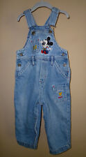 *Mickey & Co.* Boy's Denim Vestbak Bib Overalls Size (24 M) 100% Cotton