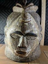 Yoruba Gelede Helmet — Ceremonial Mask — Authentic Handmade Wood African Art