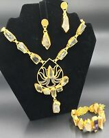 Zeyzey Handmade Necklace, Bracelet and Earring Crystal Quartz Set   New