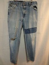 DICKIES Mens Carpenter Pants Jeans 36 x 32 Distressed Ripped Patched Worn