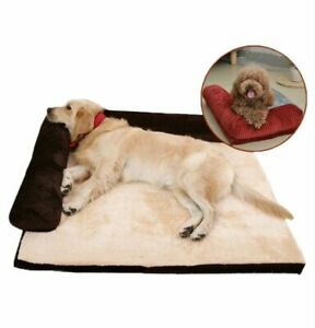 Dog Sleeping Mattress Memory Foam Bed Mat Removable Cover House Sleeping Pad
