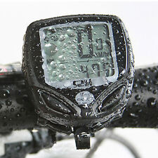 BIKE LCD COMPUTER SPEEDO ODOMETER CYCLE BICYCLE SPEEDOMETER WIRELESS WATERPROOF
